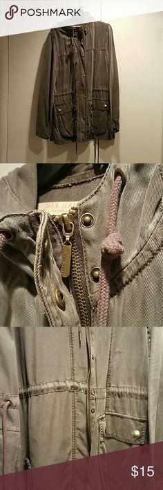 Jacket Max jeans vintage like army jacket Max Studio Jackets & Coats Jean Jackets