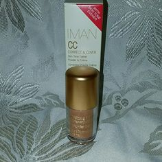NEW! IMAN CC CORRECT AND COVER POWDER TO CREME New in box! IMAN CC CORRECT AND COVER POWDER TO CREME! DEEP EARTH IN COLOR IMAN  Makeup Concealer