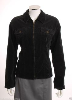 "COLDWATER CREEK VELVET BRASS FINDINGS  ""JEAN"" JACKET STYLE COAT SZ  EXTRA LARGE #ColdwaterCreek"