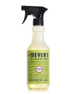 Mrs. Meyer's Lemon Verbena Countertop Cleaner. We use this on everything! It is a non-chemical cleaner, which makes it safe to use around Noah. We dilute the All Purpose cleaner into this spray bottle once we run out (it tells you how much to dilute on the bottle). And smells so yummy. Can usually find it at Target or Whole Foods.