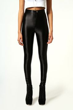 mae thick high shine button front disco pants
