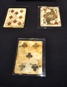 titanic artifacts | playing cards on display at the Titanic: The Artifact Exhibition in ...