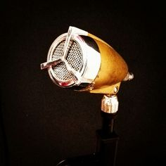 """Our """"new"""" vintage microphone."""