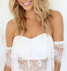 HOT LACE CUTE STRAPLESS TOP
