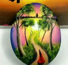 Stone Art Painting, Pebble Painting, Pebble Art, Rock Painting Patterns, Rock Painting Designs, Hand Painted Rocks, Wow Art, Diy Canvas Art, Painting Videos