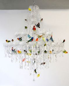 Bird chandelier, created for Pinta, the modern and contemporary Latin American Art show in New York