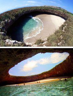 Marieta Islands hidden beach, off the coast of Puerto Vallarta, Mexico