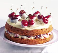 Chocolate Dipped Cherry Cake from BBC Good Food Mag. My favorite food mag out of all of them!
