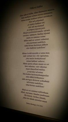 Poem by Saima Harmaja - Väkevä kukka