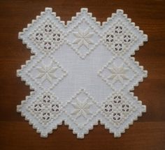 Unique+Square+Hardanger+Doily+by+MnMom23+on+Etsy,+$38.75