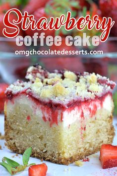 This Strawberry Coffee Cake is perfect choice for refreshing summer breakfast snack or desserttoo. The post Strawberry Coffee Cake appeared first on Win Dessert. Strawberry Coffee Cakes, Strawberry Recipes, Frozen Strawberry Desserts, Strawberry Lemonade Cake, Strawberry Bread, Cupcakes, Cake Recipes, Dessert Recipes, Pause Café