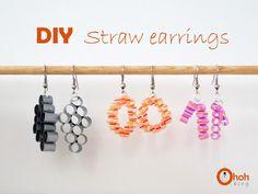 Ohoh Blog: DIY Straw earrings