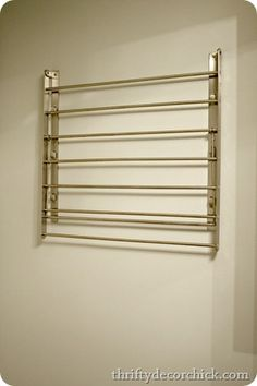 The Laundry Room: Fold down drying rack from IKEA