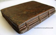 "A small prayer book with three quires bound using a binding method called ""Coptic Binding""."