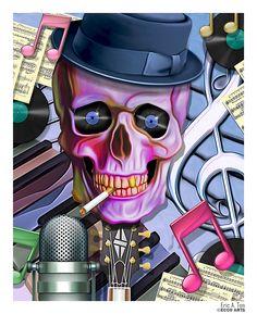 Jazz Skull by Eccoton.deviantart.com on @deviantART