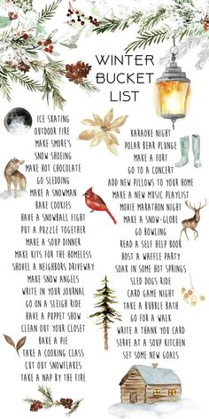 40 Activities to Cross Your Winter Bucket List Kelsey Bang, . - 40 Activities to Cross Your Winter Bucket List Kelsey Bang, - Winter Fun, Winter Time, Winter Christmas, All Things Christmas, Christmas Holidays, Christmas Crafts, Christmas Decorations, Christmas To Do List, Christmas Bucket Lists