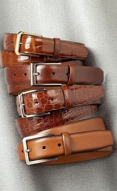 Buy Online Classic & for men and Browse the entire Belts collection and discover other collections at Bryant park. Leather Belts, Leather Men, Custom Leather, Leather Accessories, Fashion Accessories, Mens Belts Fashion, Alligator Belt, Brown Belt, Black Belt