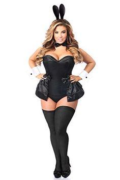 8b97eb31b37 Daisy Corsets Women s Plus-Size Lavish 5 Piece Formal Tuxedo Bunny Corset  Costume