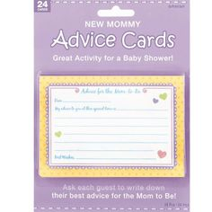hilarious baby shower games advice cardscard