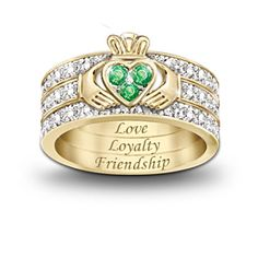 Claddagh Blessing Ring   I need one of these.  I've ALWAYS love these rings.