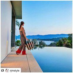 Set within a tropical garden, this villa is a luxuriously designed four-bedroom villa with panoramic sea views. Koh Samui, Tropical Garden, Island Life, Villa, Studio, Places, Design, Tropical Backyard, Tropical Gardens
