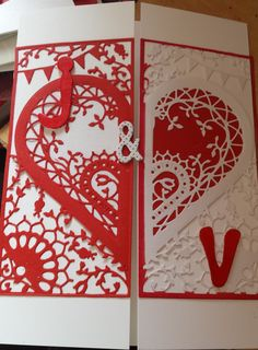 Personalised wedding gatefold 150x203mm card using Create and Craft's Couture…