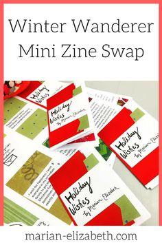 Holiday Wishes Mini Zine for a Winter Mini Zine Swap on Swap-Bot
