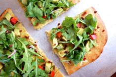 Almond flour flatbread makes a perfect base for crispy bacon and peppery arugula in this effortless and satisfying recipe.