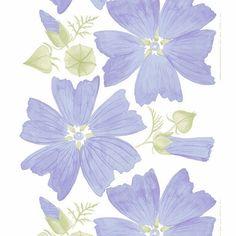 Marimekko Lilac Malva Sateen Fabric Repeat - Marimekko Fabric Sale