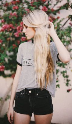#summer #fashion / gray t