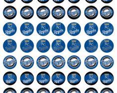 Kansas City Royals digital collage sheet size 8.5x11 for bottlecaps 1 inch - INSTANT DOWNLOAD