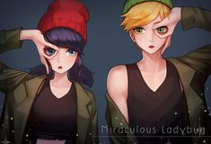 Like a couple of street rats (Miraculous Ladybug, Adrien, Marinette)