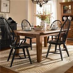 Shop for the Broyhill Furniture Attic Heirlooms 5 Piece Dining Set at Belfort Furniture - Your Washington DC, Northern Virginia, Maryland and Fairfax VA Furniture & Mattress Store