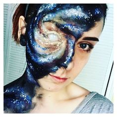 Galaxy makeup ❤ liked on Polyvore featuring beauty products and makeup