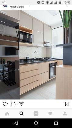 Luxury Kitchen Design, Kitchen Room Design, Interior Design Kitchen, Kitchen Decor, Black Kitchen Countertops, Modern Kitchen Cabinets, Kitchen Furniture, Kitchen Cupboard Designs, Cuisines Design