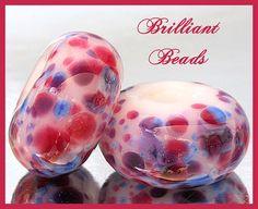 Spring Garden Glass Spacer Bead PairHandmade by Gillianbeads, $4.50