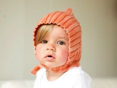 """vintage baby hat pattern - """"in the 1940's and 1950's pointy 'pixie' hats were all the rage for babies..."""""""