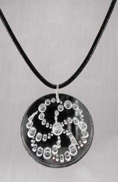 Crop Circle Silver Mirror Engraved « Laurel Stalla Design  #cropcircle #necklace