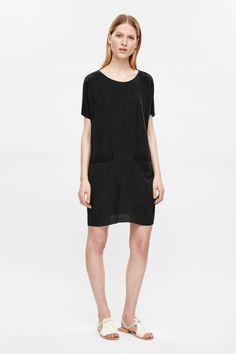 1c806178ccc1 OVERSIZED SILK T-SHIRT DRESS Oversized Black T Shirt, Silk T Shirt, Black