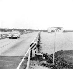 Florida Memory - Bicycling across Philips Inlet Bridge - Panama City, Florida Panama City Beach Florida, West Florida, Old Florida, Panama City Panama, Bay County, Beach Stuff, Bicycling, Bridge, Image