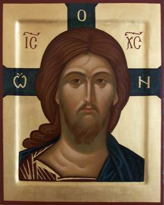 Christ contemporary icon contemporary icon by Convent of the Discalced Carmelite Nuns in Poland Byzantine Icons, Byzantine Art, Jesus Face, Russian Icons, Art Icon, Religious Icons, Son Of God, Orthodox Icons, Sacred Art