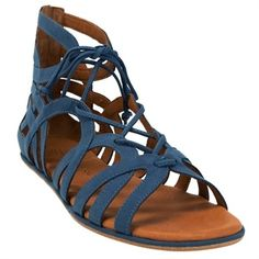 Step Out In Style / Gentle Souls Break My Heart Lace Up Sandal #VonMaur #GentleSouls #Blue #Strappy # ||