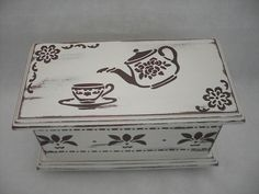 Wood Crafts, Diy And Crafts, Arts And Crafts, Wood Craft Patterns, Decoupage Box, Tea Box, Shabby, Special Gifts, Free Design