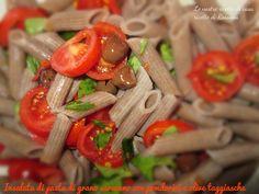 Insalata di pasta di grano saraceno con olive taggiasche