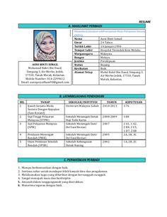 8 Best Resume Bm Images Resume Bahasa Melayu Kerjaya