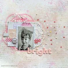 Riikka Kovasin - Paperiliitin: Bright - background tutorial