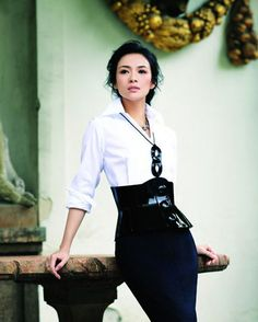 zhang ziyi - business casual with a twist :)