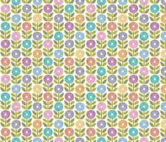 Daisy Chain wrapping paper fabric by elizajanecurtis on Spoonflower - custom fabric