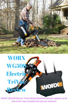 WORX WG509 Electric TriVac Review. Boasting of an extremely powerful impeller and a vigorous motor to match, the WORX WG509 Electric TriVac Blower/Mulcher/Vacuum appears to be one of the most versatile leaf vacuum mulchers, at least in terms of capacity and variety. You can clso check The Worx Trivac WG509 #leafvacuum #garden #tools #leafblower