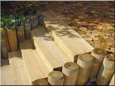 Fa kerti lépcső